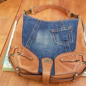 Michael Kors Denim and leather handbag